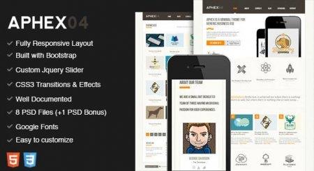 قالب HTML زیبا و کاربردی Aphex04